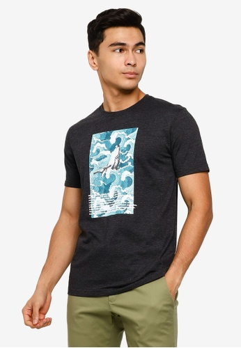 UniqTee grey The Mighty Whale Graphic Tee 171B0AAEA92C2AGS_1