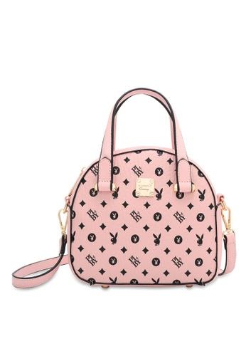 PLAYBOY BUNNY pink Women's Hand Bag / Top Handle Bag / Shoulder Bag 9C87DAC94AEA6DGS_1