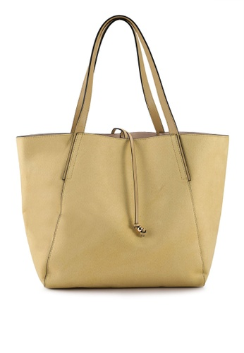 H&M yellow Imitation Suede Shopper Bag C0999AC5AB0216GS_1