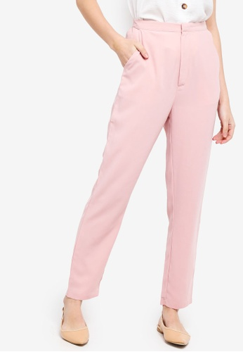 Zalia pink Basic Tailored Trousers BD0FBAABBDE5A5GS_1