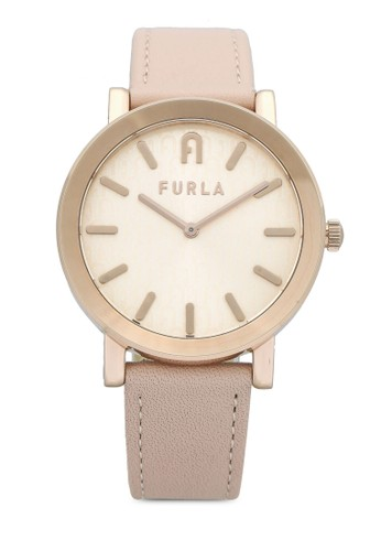 FURLA Watches pink and gold Ladies Rose Gold Dress Watch 5C9D8ACC7FCBD5GS_1