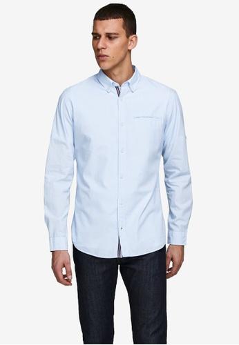 Jack & Jones blue Tape Detail Long Sleeves Shirt 6FFBBAA80031C6GS_1