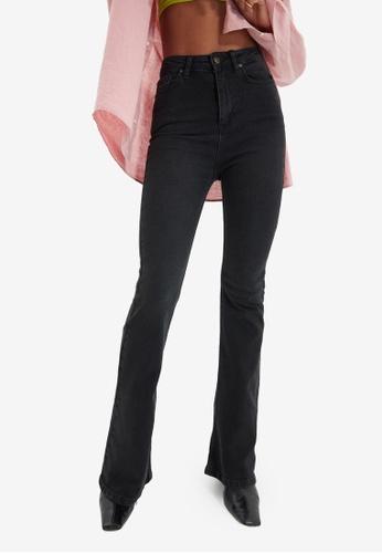 Trendyol black Black High Waist Flare Jeans D7D1AAAE3BCD86GS_1