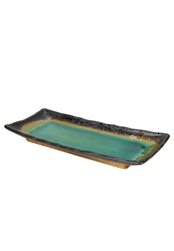 Tsuru SET OF 2 Tsuru Japanese Tableware  Rectangle Plate 89C2EHLC6DDE75GS_1