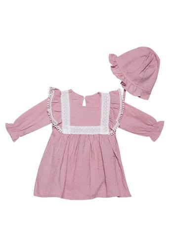 RAISING LITTLE pink Dalia Dress Set 44EF9KAC7EB03EGS_1