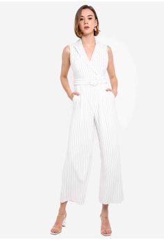 0d04f19913 Forever New white Farrah Stripe Tux Jumpsuit 710D9AA592DA83GS_1
