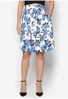 Collection Printed Full Midi Skirt
