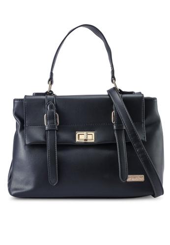 Unisa black Faux Leather Convertible Satchel Bag CD357AC3E27B24GS_1
