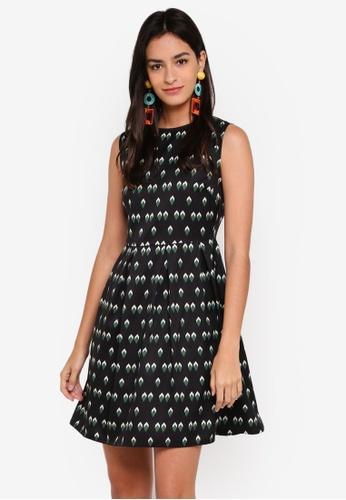 ZALORA black Inverted Pleat Dress 6E445AA4640A06GS_1