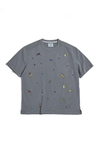 Twenty Eight Shoes 灰色 VANSA 復古印第安刺繡T恤  VCM-T2101220 8A957AAF8ACDA9GS_1