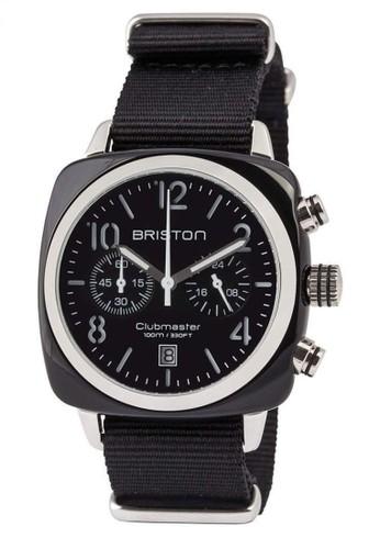 Briston black BRISTON CLUBMASTER CLASSIC ACETATE CHRONOGRAPH BLACK 40MM CD5E3ACF522563GS_1