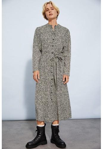 H&M black Calf-length dress 4F240AA33E19A0GS_1