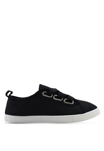Rubi black Penelope Lace Up Plimsoll 88A32SH4CCBC48GS_1