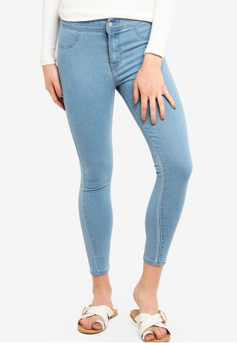 ZALORA BASICS blue Basic Denim Jeggings 0E0D6AACD24A67GS_1