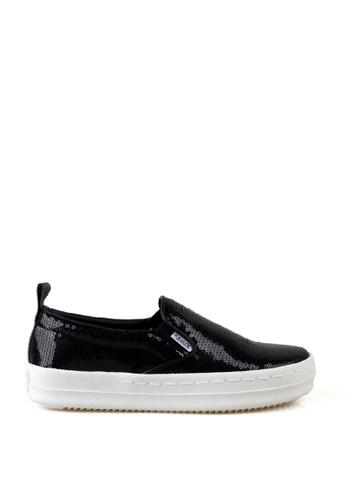 J.DAUL 黑色 時尚厚底懶人鞋 JD556SH09Q61TW_1