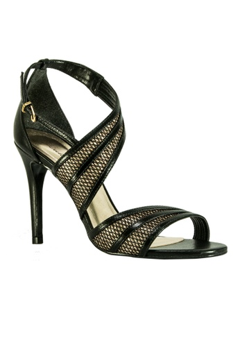 Covet black Seculo XXX Leticia Strappy Heeled Sandals CO331SH24GELPH_1