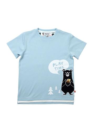Vauva blue Vauva Boys Bear Play Time Tee w/ Nut Velcro Strap - Blue 443C0KA207B60FGS_1