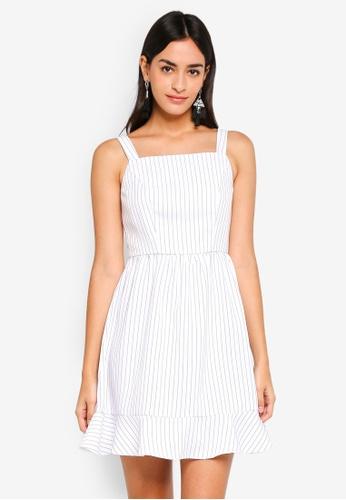 ZALORA white and multi Flare Hem Dress 322CCAA16FD4CEGS_1