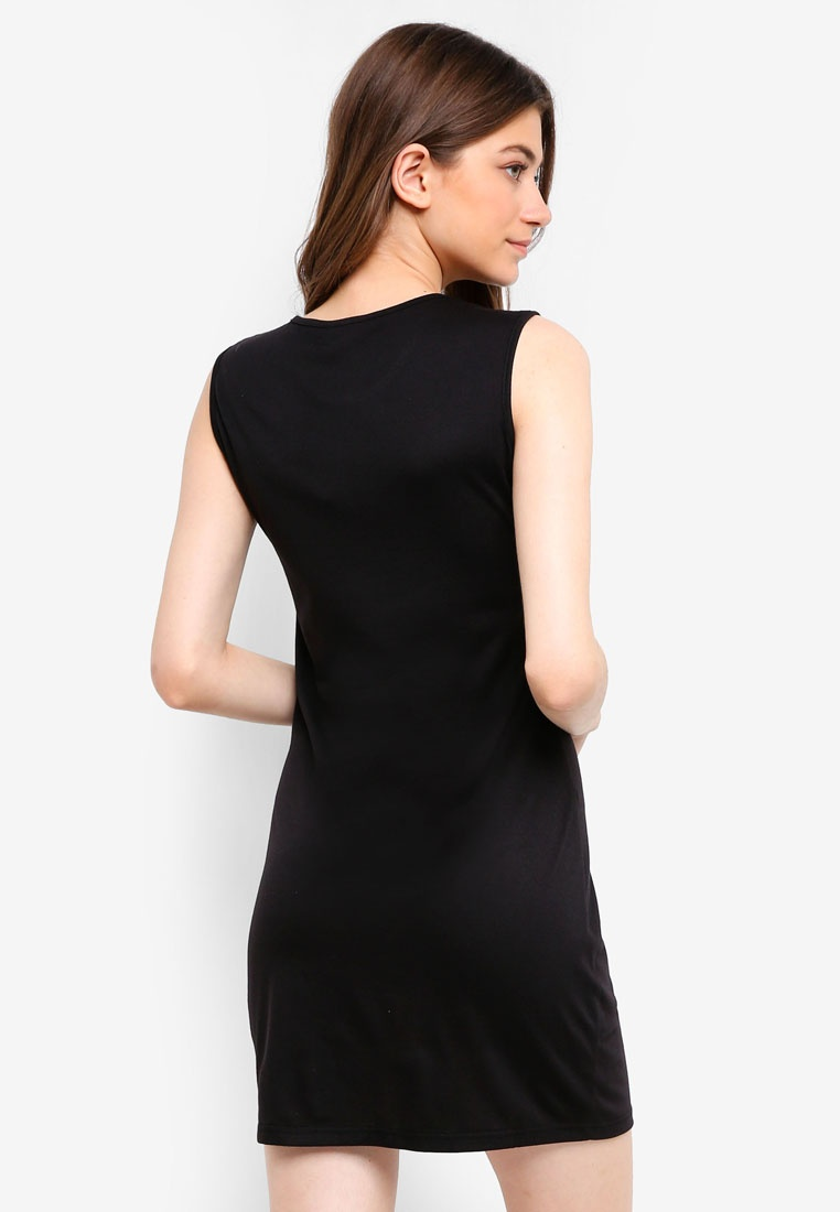 Dress Asymmetrical Black Something Layer Borrowed On0gYq