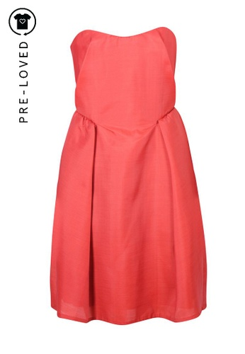 Carven red Pre-Loved carven Brick Red Bustier Dress 082EDAAD486539GS_1