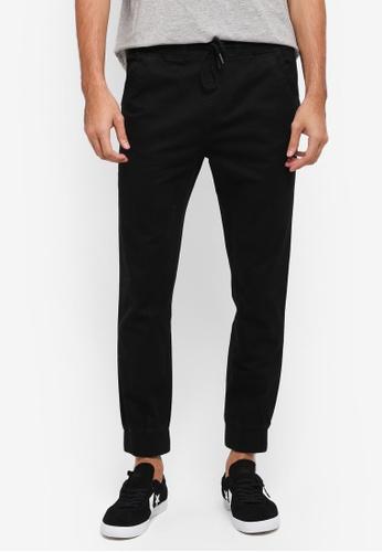 JAXON black Vintage Woven Joggers 9065FAA8742977GS_1