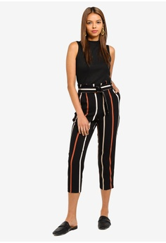 045e2bd81d 51% OFF Miss Selfridge Petite Multi Stripe Paperbag Trousers S$ 89.90 NOW  S$ 43.90 Available in several sizes