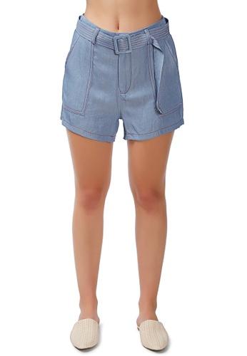 London Rag blue Contrast Seam Everyday Shorts FC5F5AA20B6557GS_1