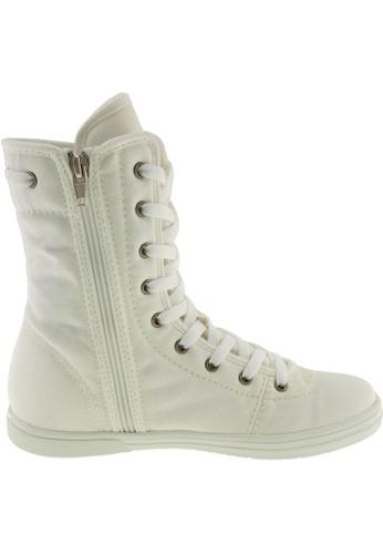Maxstar Maxstar Women's 8119 Hidden Heel Canvas High Top Shoes US Women Size MA168SH88ZTFHK_1