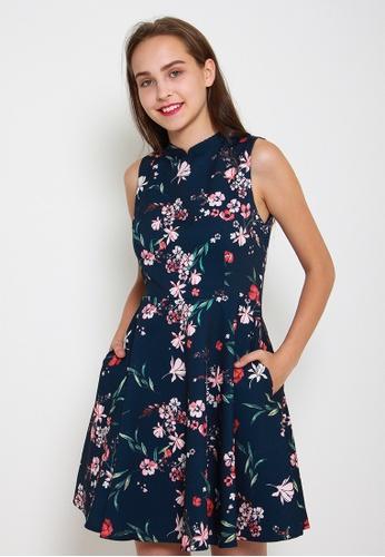 Leline Style blue Nina Floral Dress 2906CAA31F3B0CGS_1