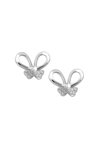 GOLDHEART gold GOLDHEART Butterfly Earrings, Diamond White Gold 585 (E1639) 6669FAC10080E4GS_1