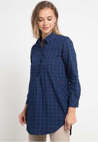 TRISET multi and navy Long Sleeve With Collar D9552AABACC9BFGS_1