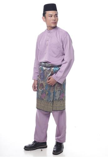 Denai Boutique purple Baju Melayu Faleeq 67445AA64D6B3AGS_1
