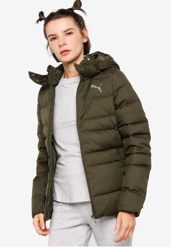 PUMA green Essentials Women's Down Hooded Jacket D2D31AAA9D2B4CGS_1
