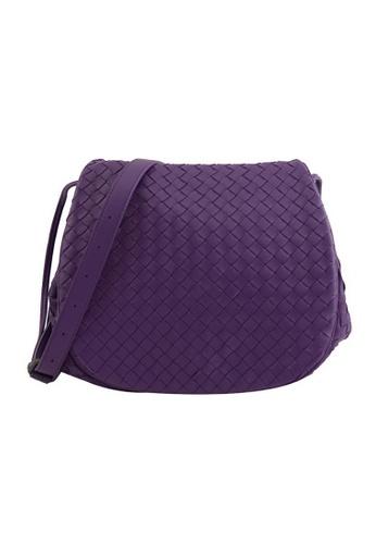 Bottega Veneta purple Bottega Veneta Diagonal Crossbody Bag in Purple B7BA9ACBF70E6BGS_1