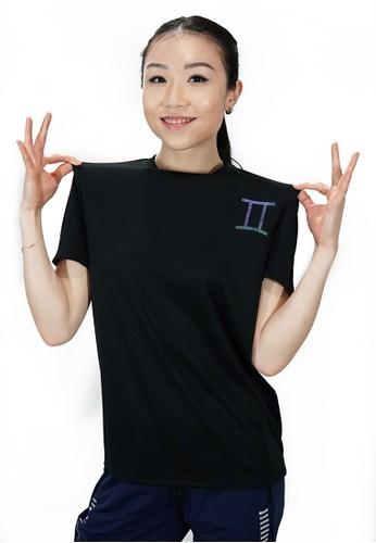 Trijee black Trijee Women Short Sleeve Tee Horoscope Series Gemini - Black FA7B2AA928E9B5GS_1