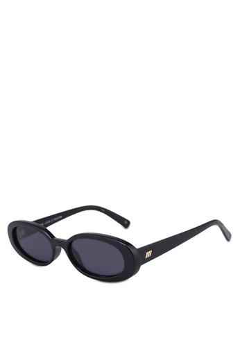 Le Specs black Outta Love Sunglasses 38151GL6A4497AGS_1