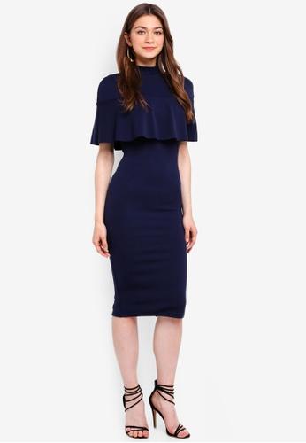 12963c1faf Shop MISSGUIDED Frill Overlay Shoulder Midi Dress Online on ZALORA  Philippines