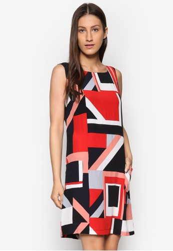 撞色印花連esprit 尖沙咀身裙, 服飾, 洋裝