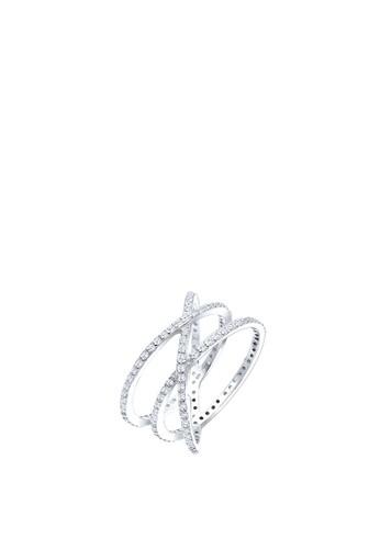 仿鑽 925 zalora退貨純銀戒指, 飾品配件, 戒指