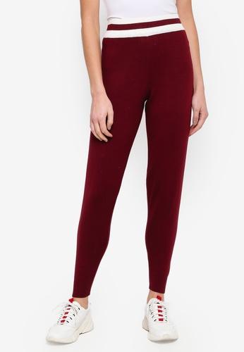 Buy Miss Selfridge Burgundy Knitted Joggers Zalora Hk