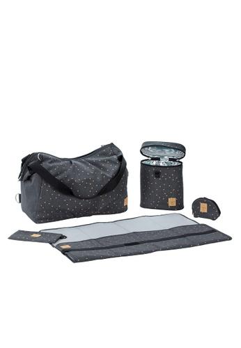 LASSIG grey Lassig Twin Diaper Bag(Striped Zigzag Navy) ECE91KCC5A1A80GS_1