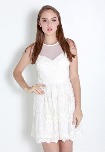 Leline Style white Yui Lace Dress LE802AA24RFZSG_1
