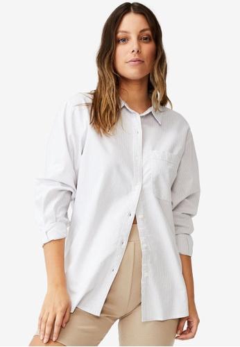 Cotton On grey Preppy Shirt 34D54AAA50CFA6GS_1