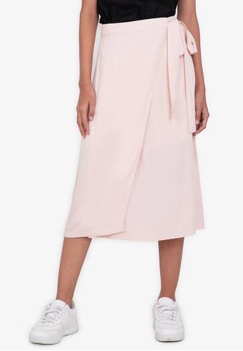 ZALORA BASICS beige Wrap Skirt 3C4BFAAC48B679GS_1