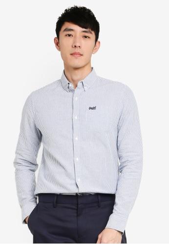 SUPERDRY blue Classic University Shirt DBB25AA2BB7AB8GS_1