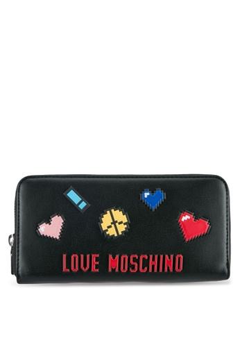Love Moschino black Portafogli Soft Wallet LO478AC0SEKYMY_1