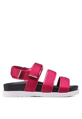 Rubi red Bronte Webbing Sporty Sandals 3DDF3SHF2B9AA1GS_1