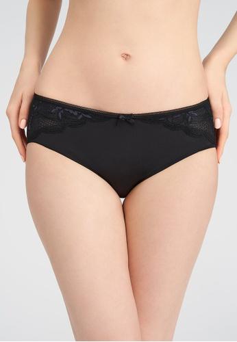 Triumph black Triumph Aqua Freesia Hipster Panty (Black) 7BCDEUSFA18E55GS_1