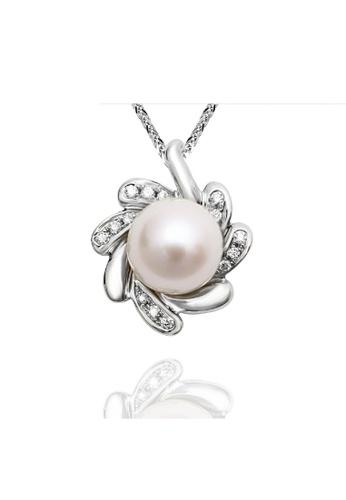 GOLDHEART Goldheart White Gold 375 (9K) + Pearl Diamond Espoir Pendant (P5230) ADD39AC8D94257GS_1