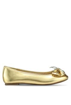 223ac20e1 Circus by Sam Edelman gold Celeste Ballerina Flats 55A61SH92D3D3AGS 1